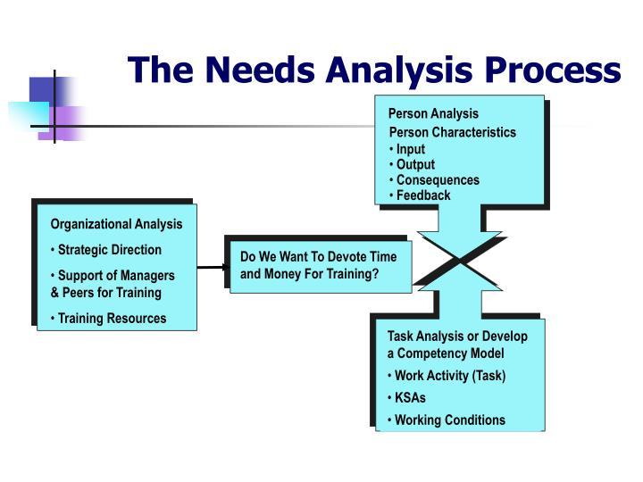 The Needs Analysis Process