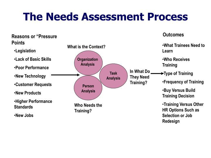 The Needs Assessment Process