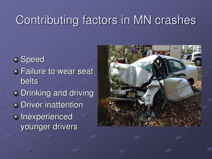 Contributing factors in MN crashes