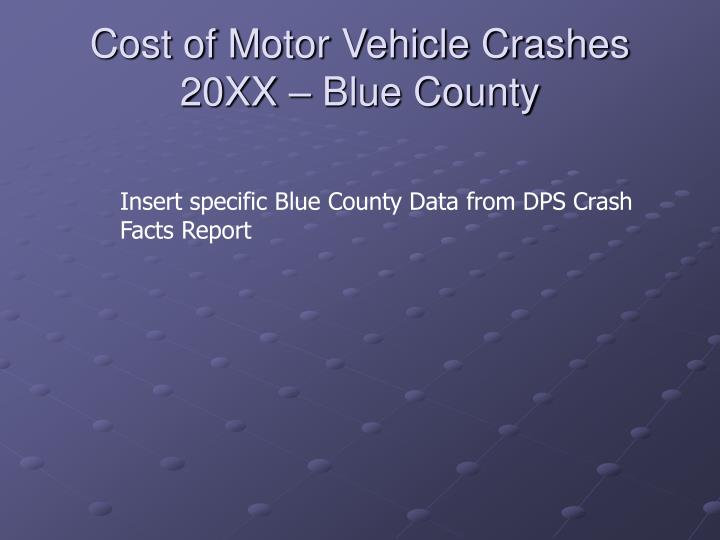 Cost of Motor Vehicle Crashes