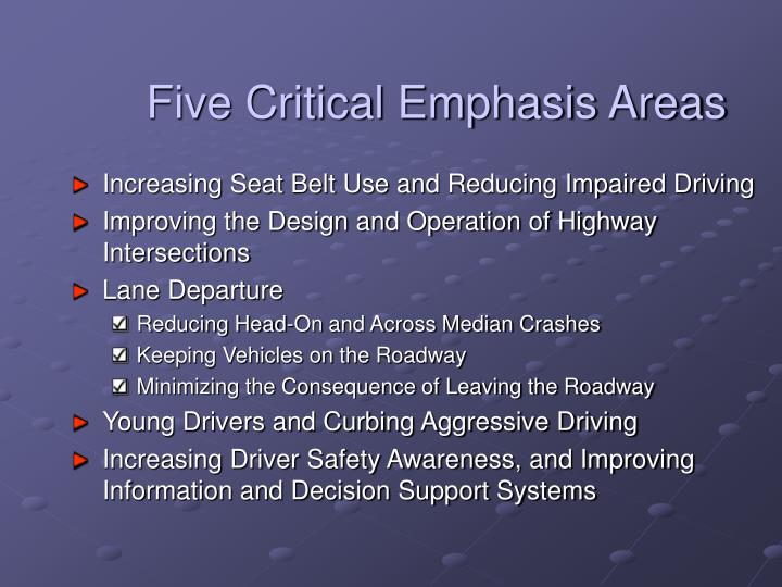 Five Critical Emphasis Areas