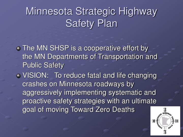 Minnesota Strategic Highway Safety Plan