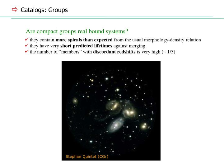 Catalogs: Groups