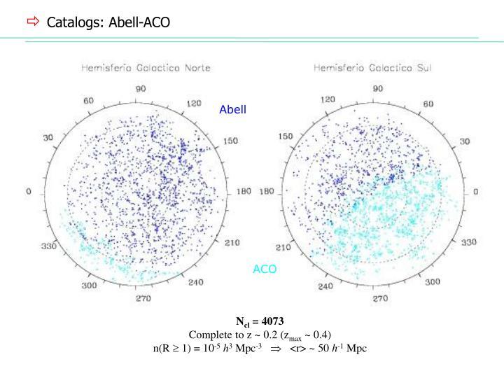 Catalogs: Abell-ACO