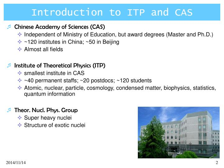 Introduction to itp and cas