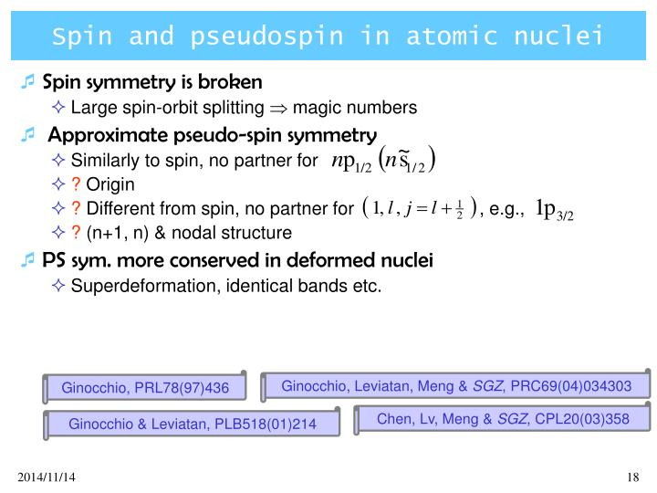 Spin and pseudospin in atomic nuclei