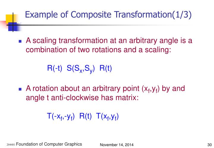 Example of Composite Transformation(1/3)