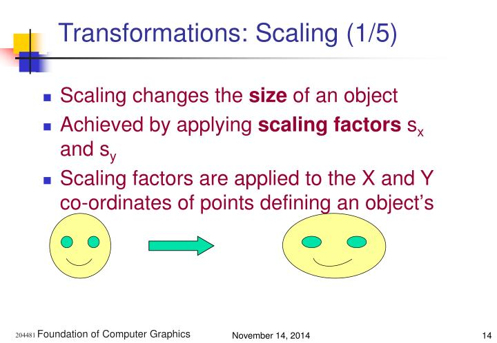Transformations: Scaling (1/5)
