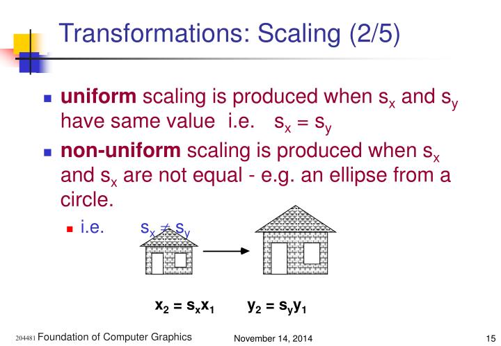 Transformations: Scaling (2/5)