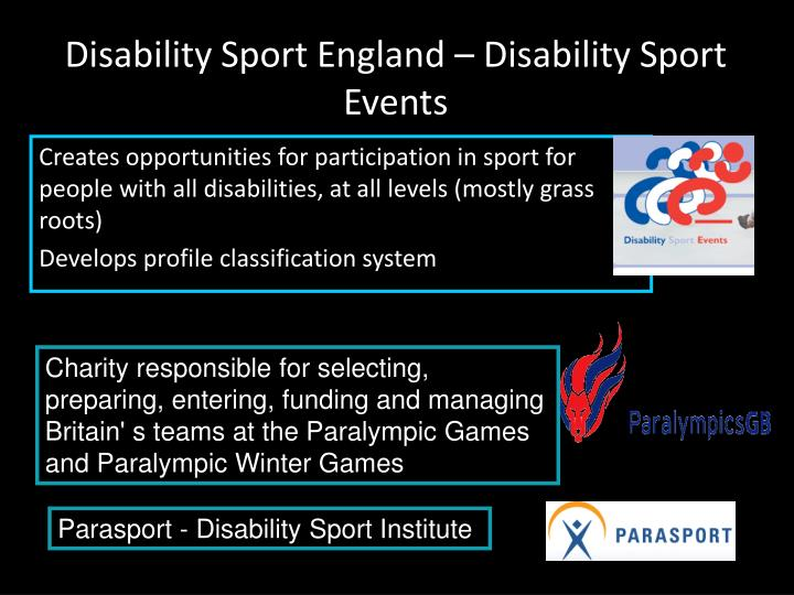 Disability Sport England – Disability Sport Events