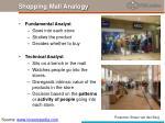 shopping mall analogy