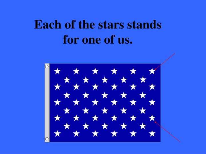 Each of the stars stands for one of us.