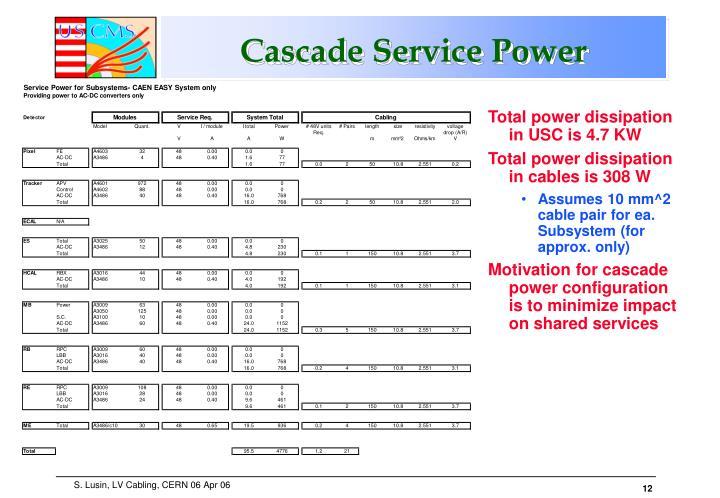 Cascade Service Power
