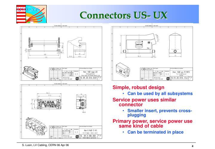 Connectors US- UX