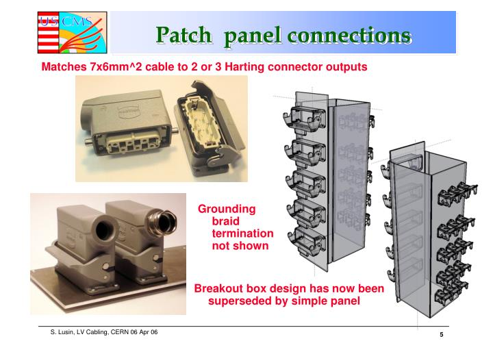 Patch  panel connections