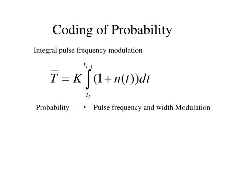 Coding of Probability