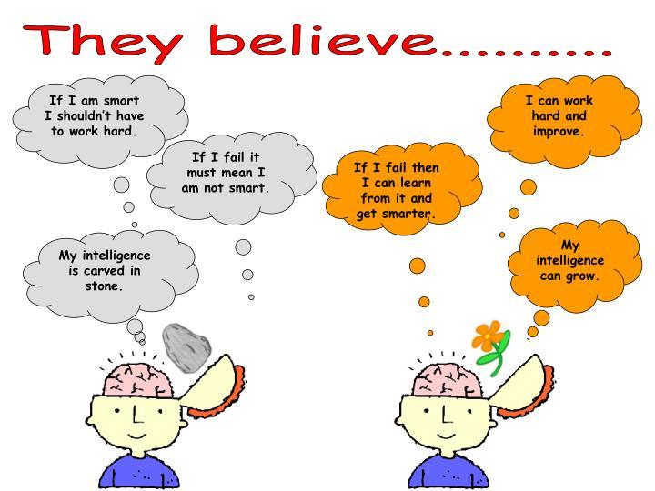 They believe..........