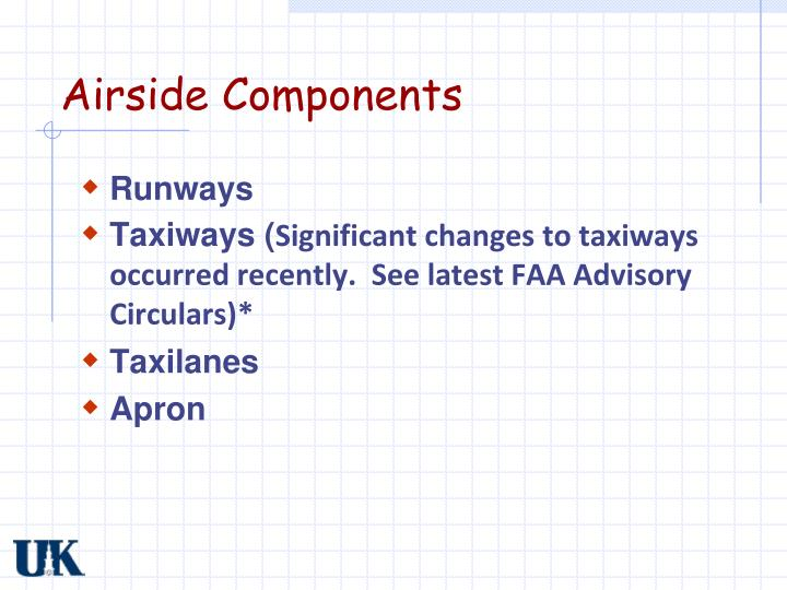 Airside components