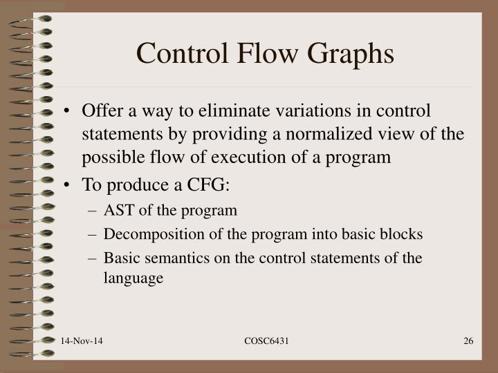 Control Flow Graphs