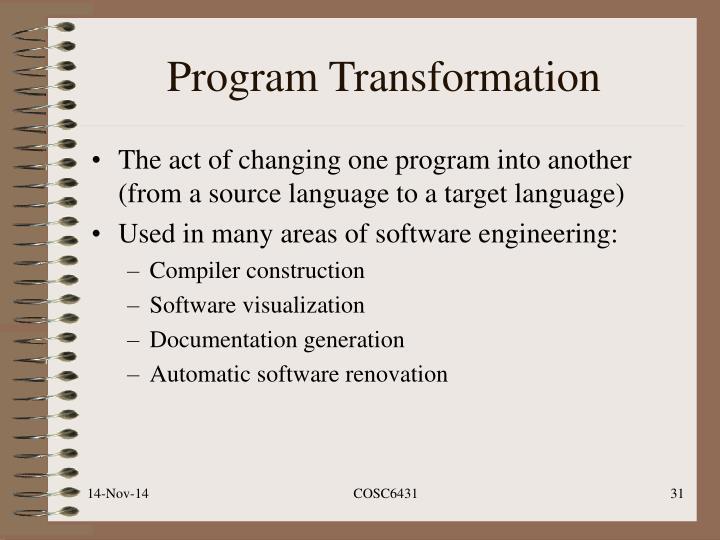 Program Transformation