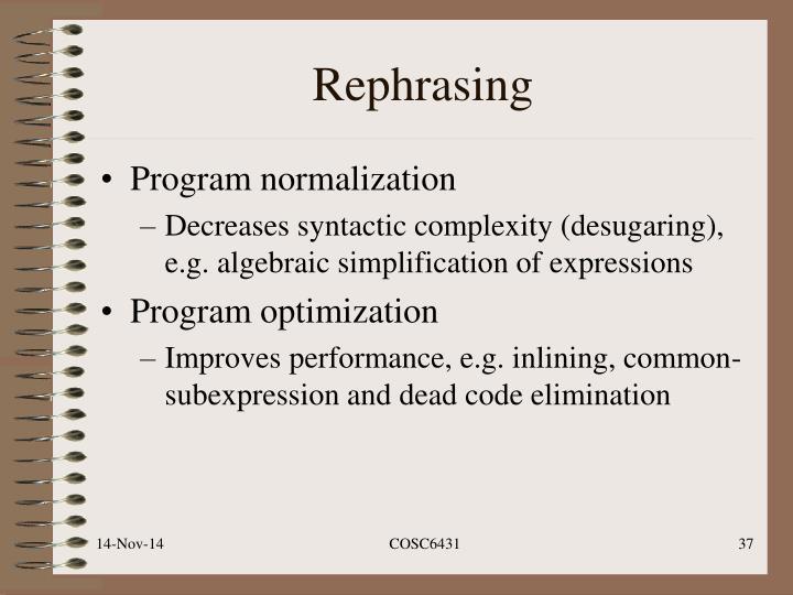Rephrasing