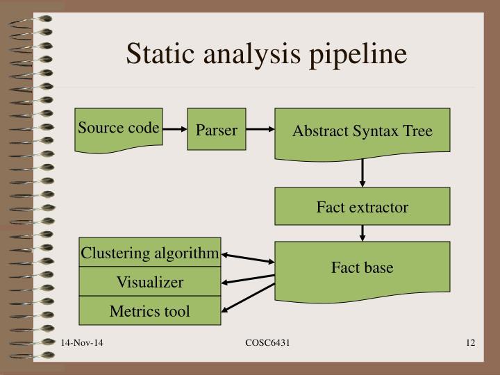 Static analysis pipeline