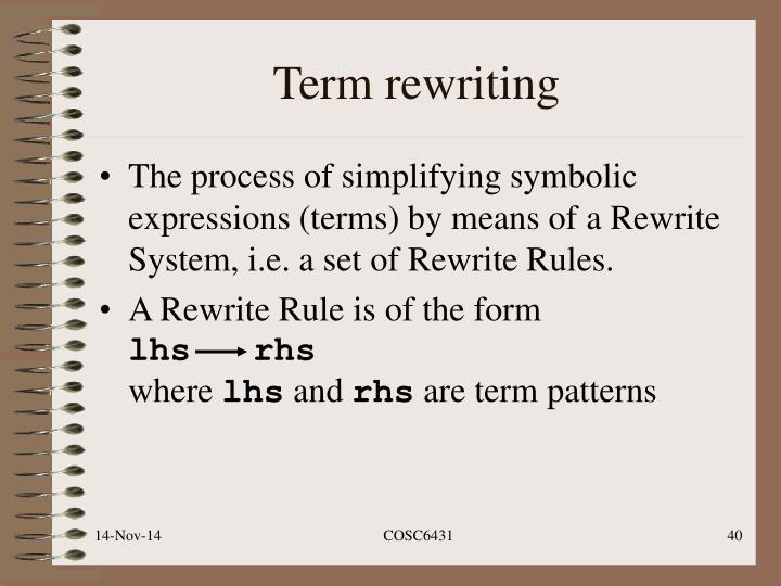 Term rewriting