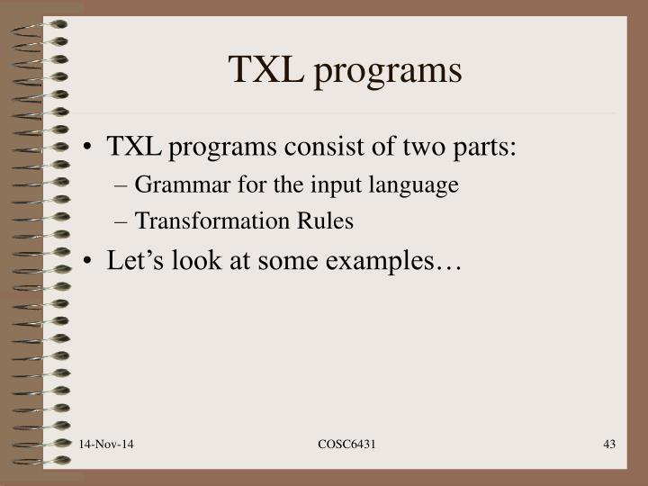 TXL programs
