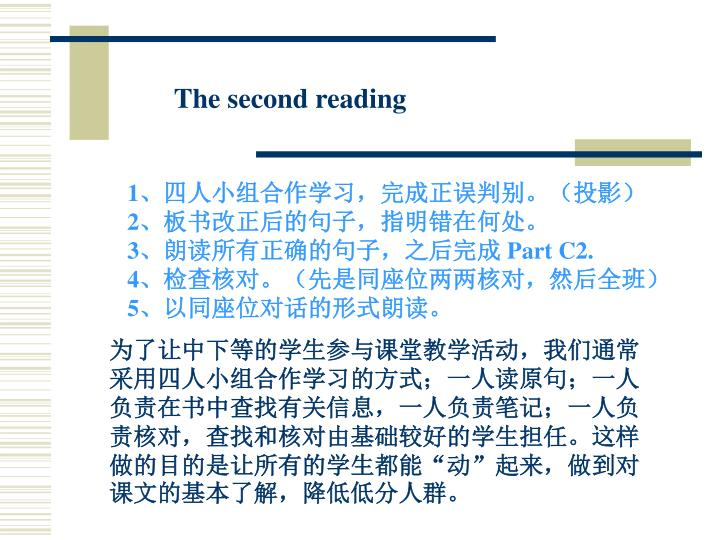 The second reading