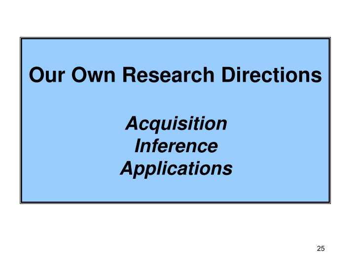 Our Own Research Directions