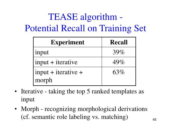 TEASE algorithm -
