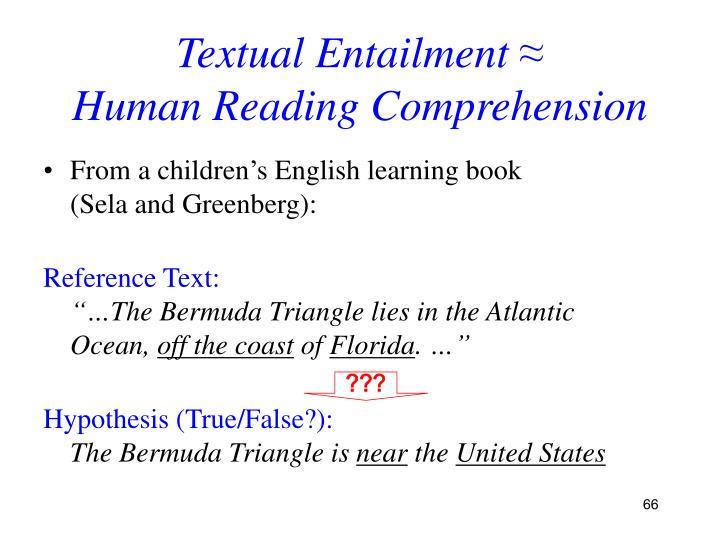 Textual Entailment