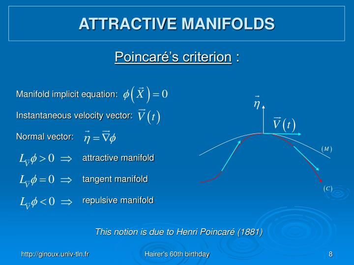 ATTRACTIVE MANIFOLDS
