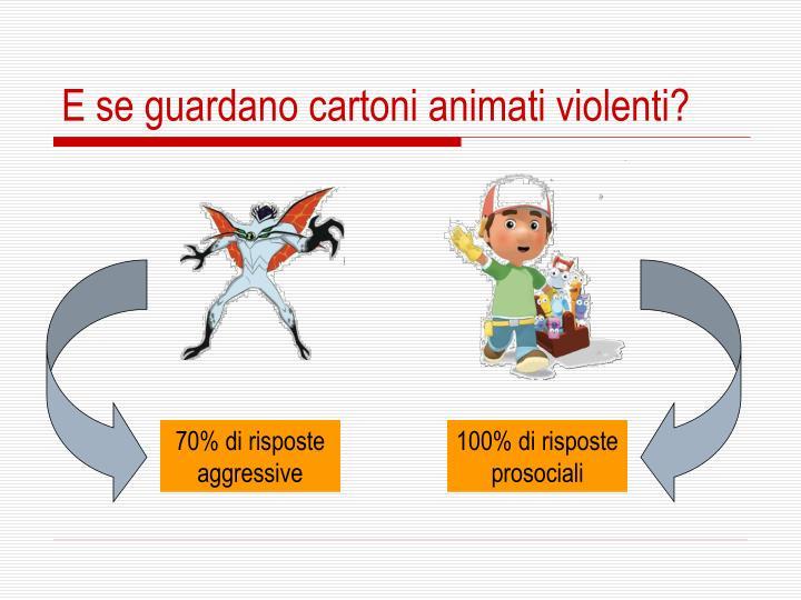 E se guardano cartoni animati violenti?