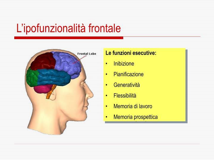 L'ipofunzionalità frontale