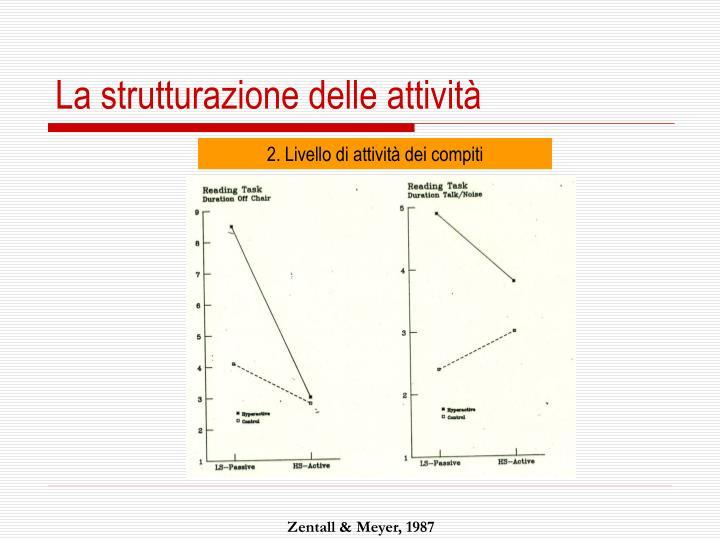 La strutturazione delle attività