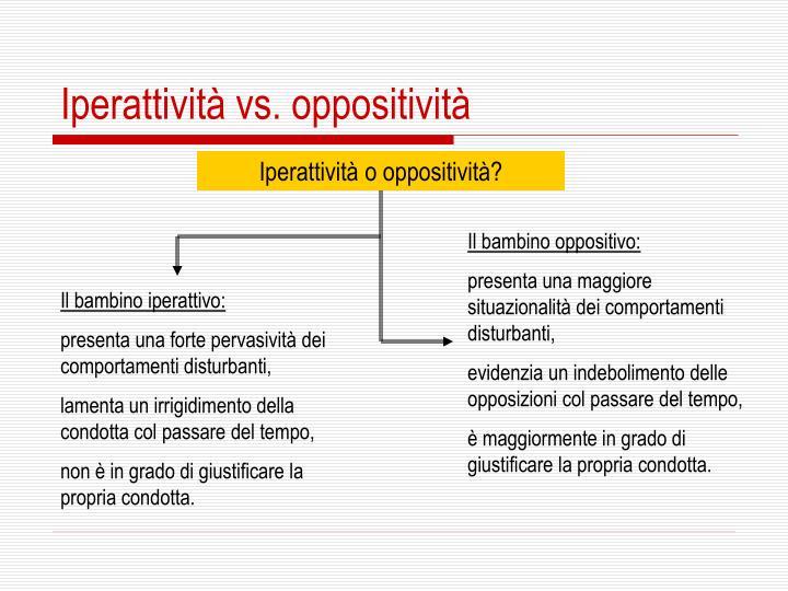 Iperattività vs. oppositività