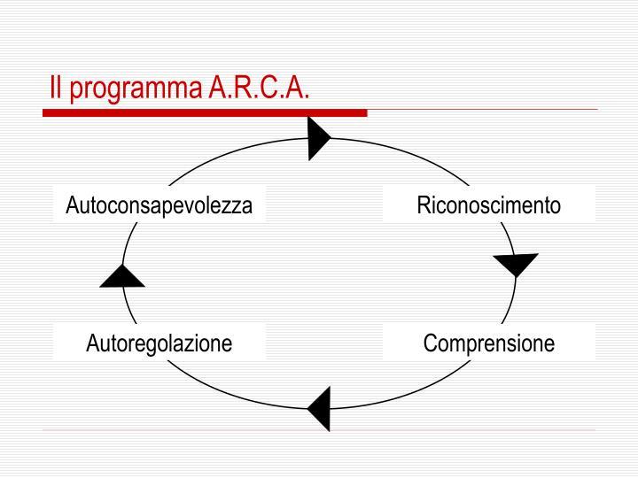 Il programma A.R.C.A.