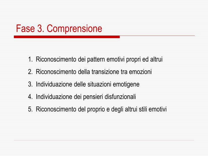 Fase 3. Comprensione