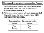 conservative vs non conservative forces