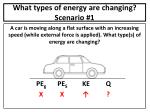 what types of energy are changing scenario 1