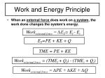 work and energy principle
