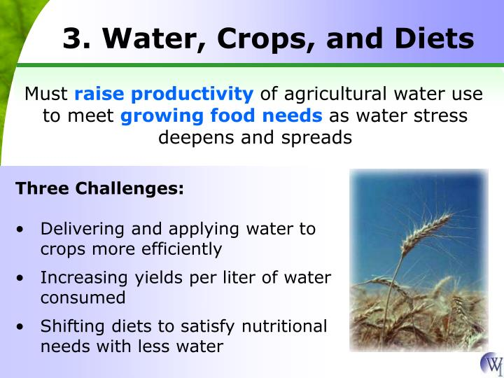 3. Water, Crops, and Diets