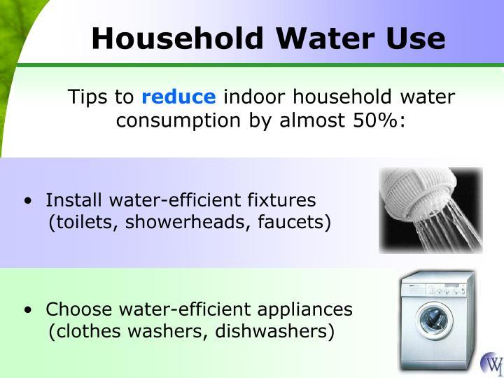 Install water-efficient fixtures