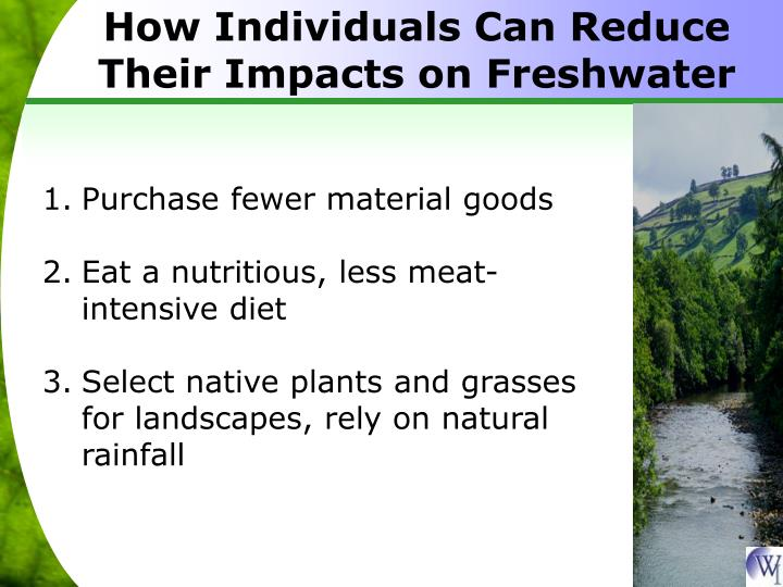 How Individuals Can Reduce Their Impacts on Freshwater