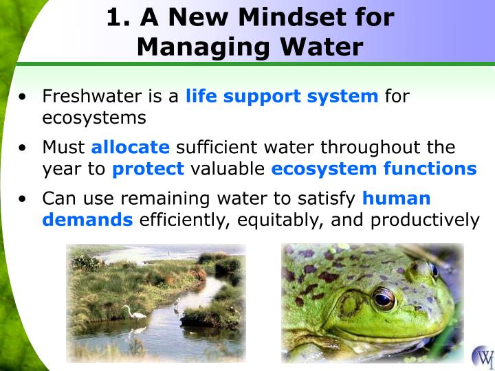 1. A New Mindset for Managing Water