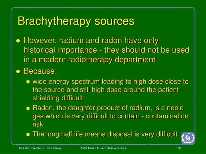 Brachytherapy sources