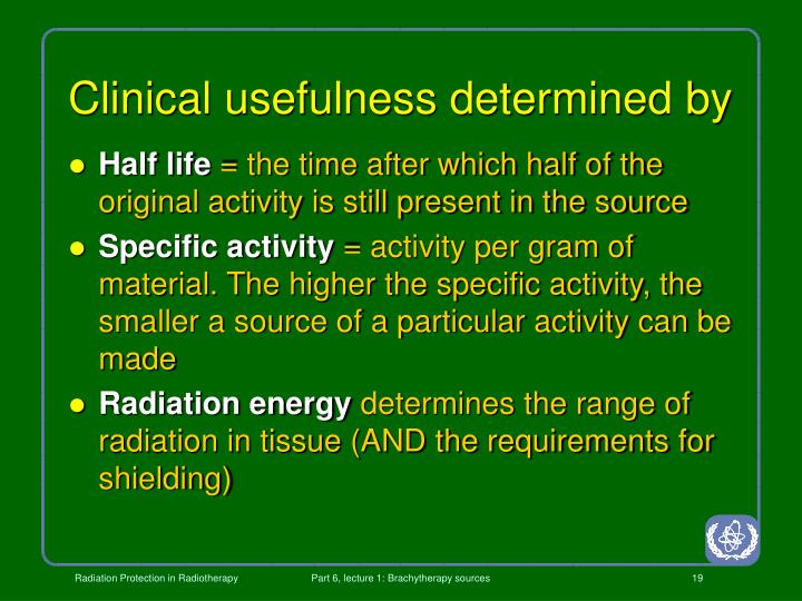 Clinical usefulness determined by