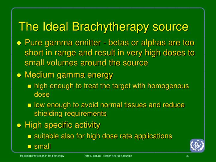 The Ideal Brachytherapy source
