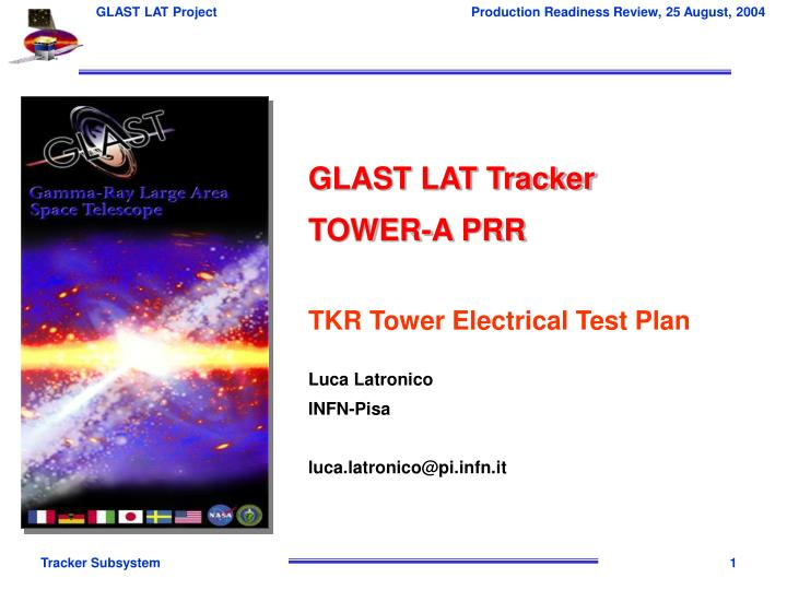 GLAST LAT Tracker